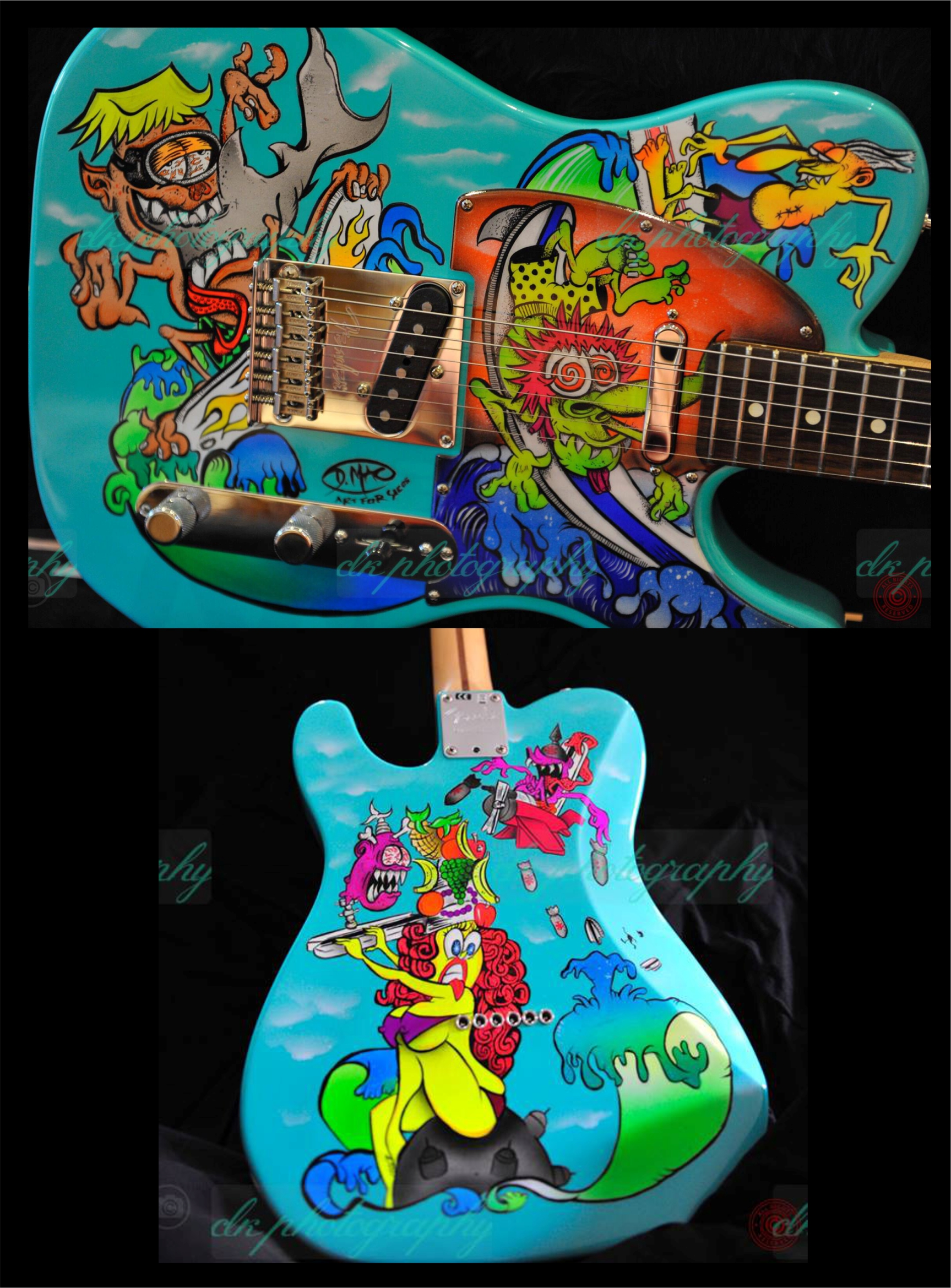Custom Painted Guitars | Doug Mac Art | Illustrations