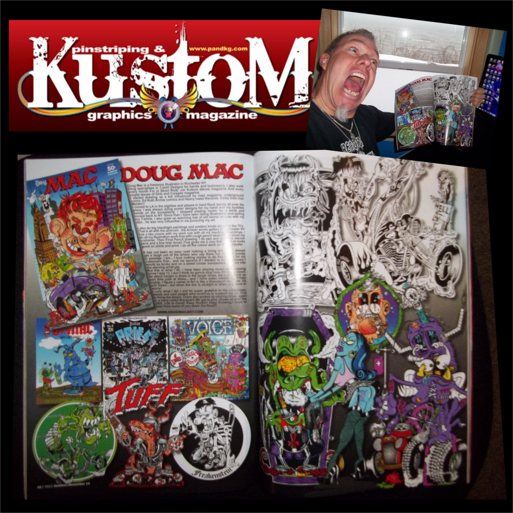 pinstriping & Kustom graphics magazine spread